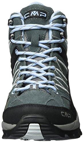 Femme Hautes WP Mid Randonnée Rigel CMP Noir de Graffite Chaussures azzurro 0qxHWOS