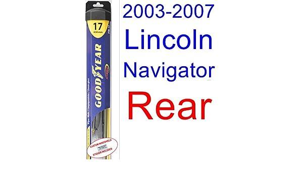 2003 - 2007 Lincoln Navigator hoja de limpiaparabrisas de repuesto Set/Kit (Goodyear limpiaparabrisas blades-hybrid) (2004,2005,2006): Amazon.es: Coche y ...