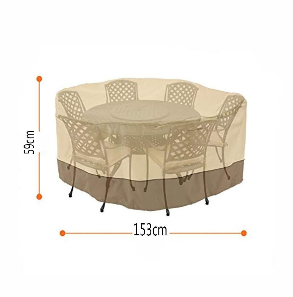 Table Et Chaise Et Chaise De Jardin 600D Tissu Oxford 153X59 Cm B/âche De Salon De Jardin Housse De Table Ronde