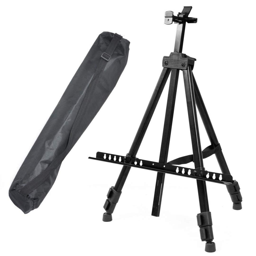 ADEPTNA Heavy Duty Artist Field Studio Painting Easel Tripod Display Telescopic White Board Stand