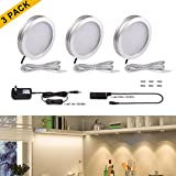 TryLight LED Under Cabinet Lighting Kit, 510lm 3000K Warm White, 6W LED Under Counter Lighting ,All Accessories Included, LED Closet Lights, Wine Cabinet Lighting, Set of 3