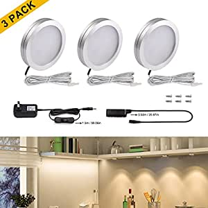led closet lights wine cabinet lighting set of 3 home kitchen
