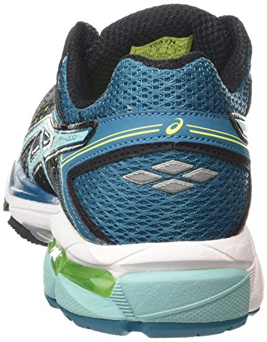 ASICS - Gt-1000 4, Zapatillas de Running mujer Negro (black/pool Blue/flash Yellow 9039)
