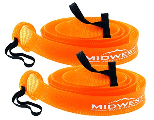 Baitcast Fishing Rod Sleeve Rod Sock Cover 2 Pack By Midwest Outfitters (Orange)