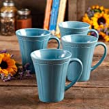 Transparent Glaze Mug Set , 4-Piece , Denim