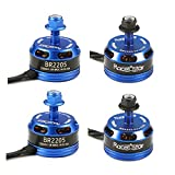 4X Racerstar Racing Edition 2205 BR2205 2300KV 2-4S Brushless Motor Dark Blue For 210 X 220 250 280 RC Drone