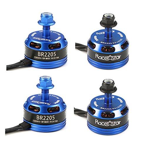 los clientes primero KINGDUO 4X Racerstar Racing Edition 2205 Br2205 2300Kv 2-4S Brushless Brushless Brushless Motor azul Oscuro para 210 x220 250 280 RC Drone  calidad oficial