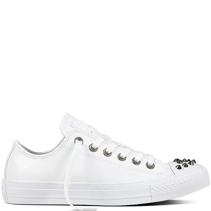 Converse Chuck Taylor (Chucks) All Star Sneaker Unisex Erwachsene Low Top Weiß mit Nieten