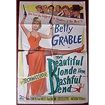 BEAUTIFUL BLONDE FROM BASHFUL BEND -ORIGINAL 1949 ONE SHEET POSTER- BETTY GRABLE