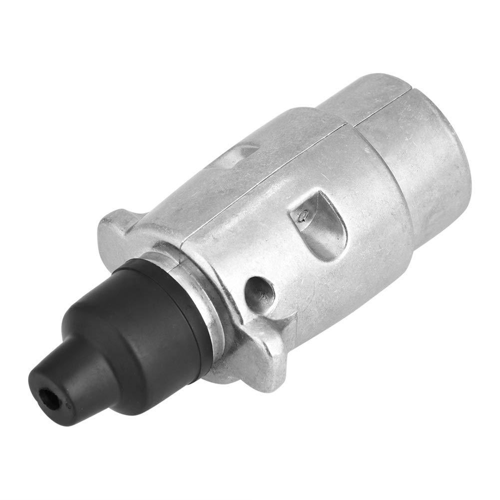 Enchufe del adaptador del z/ócalo del remolque del z/ócalo el/éctrico del coche de 12V 7Pin para el remolque de la caravana Adaptador del enchufe del remolque