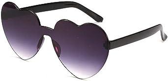 QiBest Occhiali da sole a forma di cuore Occhiali da sole da donna con montatura per PC Occhiali da sole con lenti in resina UV400 Occhiali da sole