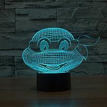 Teenage Mutant Ninja turtles colorful 3D light touch switch night light LED gradient illusion of stereo light lamp , tmnt
