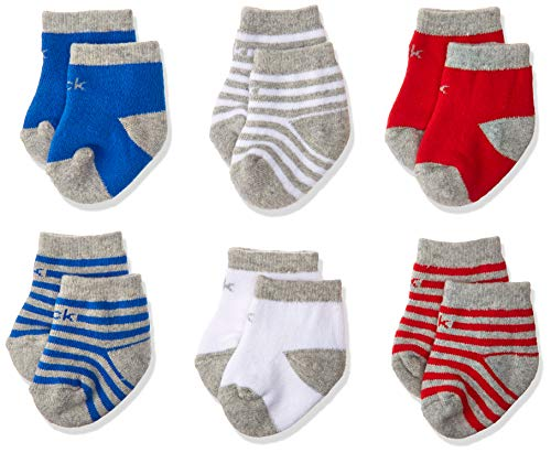Calvin Klein Baby Infants Sock Set, Boys - Red, Blue, Gray Striped and Solids, 12-24 from Calvin Klein