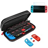 Nintendo Switch Carry Case, Gamepal for Nintendo Switch Case Black Travel Case with Nintendo Switch Screen protector for Nintendo Switch Accessories