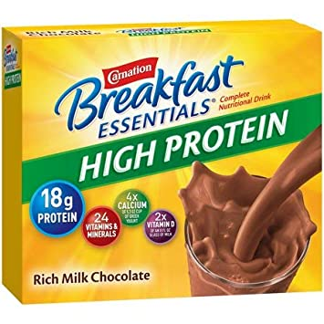 Carnation Breakfast Essentials High Protein Rich Milk Chocolate (Pack Of 2) by Generic