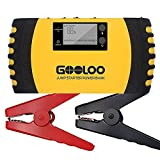 auto battery charger and starter - GOOLOO 1000A Peak 20800mAh Portable Car Jump Starter (Up to 8.0L Gas, 6.0L Diesel Engine) 12V Auto Battery Booster Phone Charger Power Pack Built-in LED Light and Smart Protection