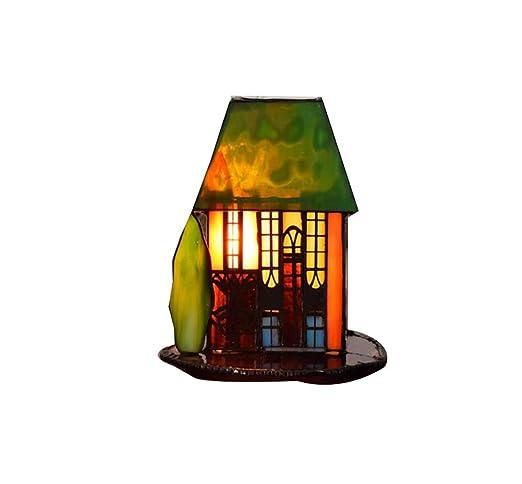 Tiffany Style - Lámpara de mesa, Creatividad Kleine hogar ...