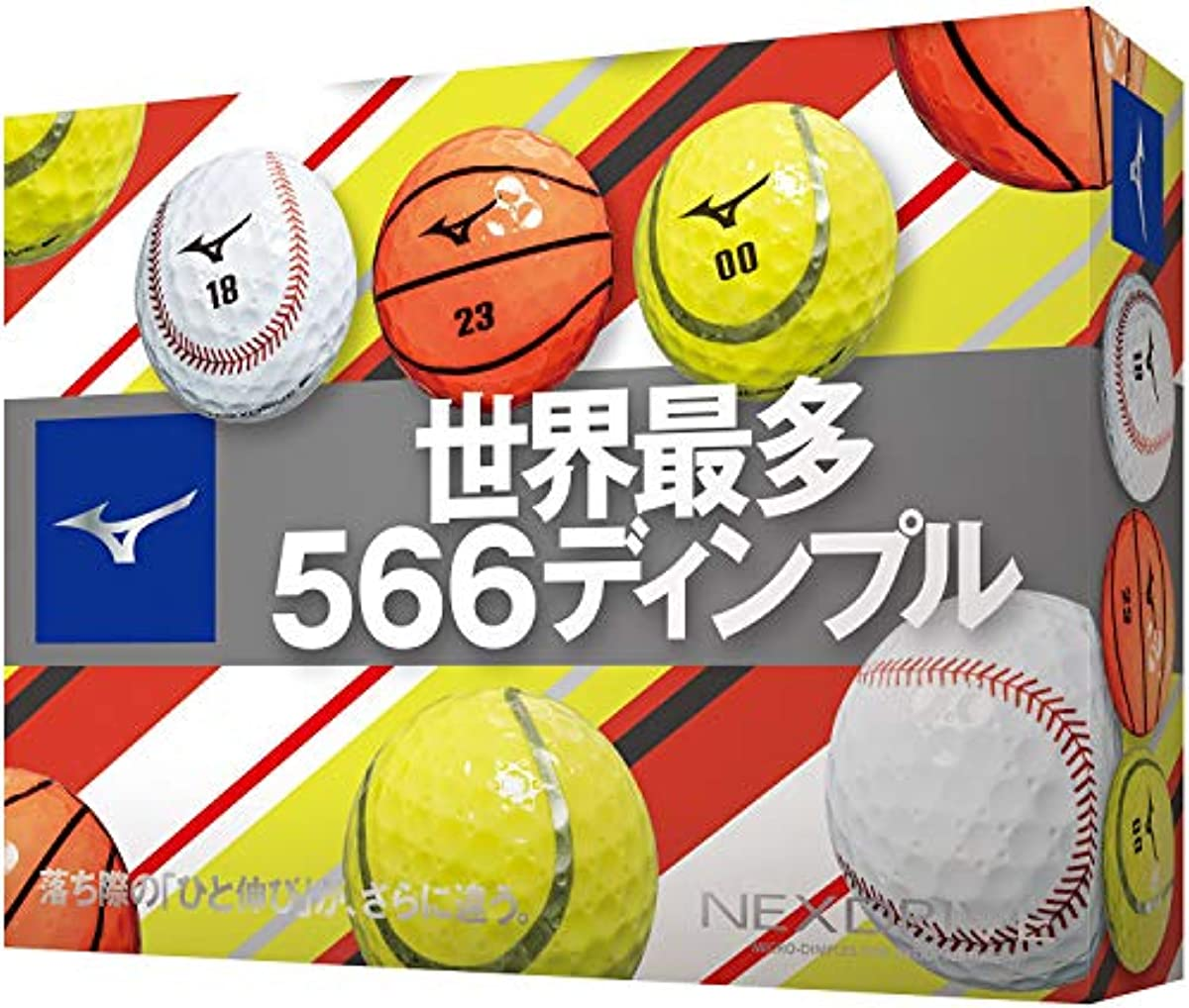 [해외] MIZUNO(미즈노) 골프 볼 네구스도라이부 스포츠 볼 1다스(12개 들이) 5NJBM32070