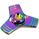 RioRand Colorful Hand Fidget Spinner Triangle Toy Durable Pure Copper Relieves anxiety boredom