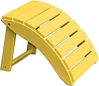 product image for Furniture Barn USA Poly Folding Round Ottoman Footrest - Yellow