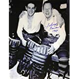 Johnny Bower & Terry Sawchuck Signed 8X10 Photograph - Toronto Maple Leafs