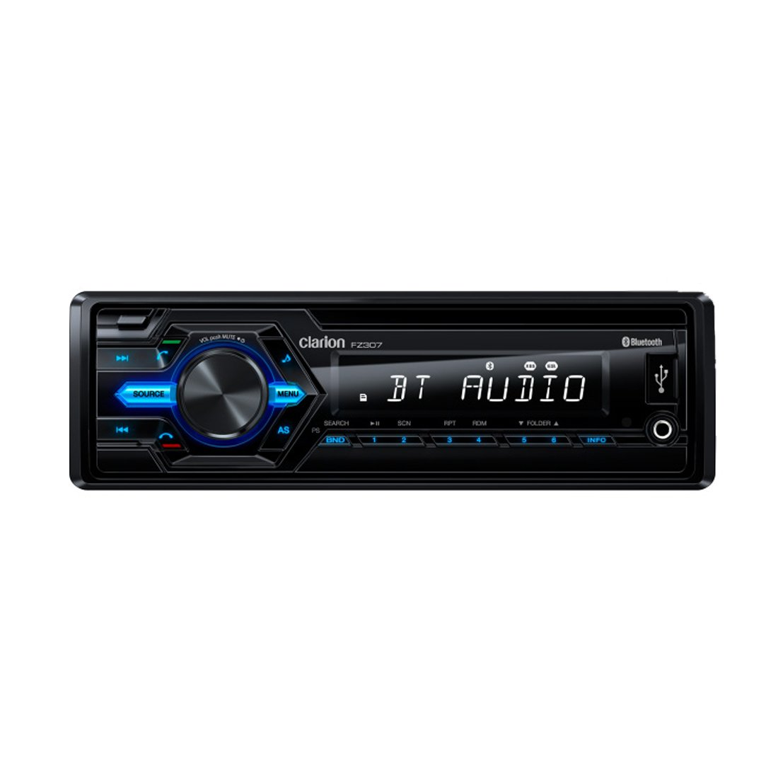 Clarion FZ307 USB / AUX-IN / SD / MP3 / WMA RECEIVER WITH BUILT-IN BLUETOOTH (Does not play CDs)