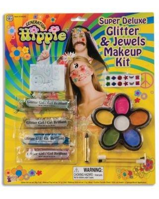 Forum Novelties Super Deluxe Glitter and Jewels Hippie Makeup Kit -