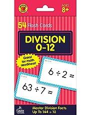 Carson Dellosa | Division Flash Cards | Select Factors through 12, 54ct
