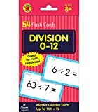 Carson Dellosa - Division Flash Cards Facts 0 to 12 - 54 Cards with 100 Problems for 3rd and 4th Grade Math, Ages 8+ with Bonus Game Card