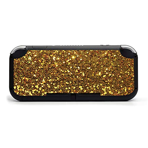 MIGHTY SKINS MightySkins Skin Compatible with Nintendo Switch Lite - Gold Dazzle   Protective, Durable, and Unique Vinyl Decal Wrap Cover   Easy to Apply, Remove, and Change Styles   Made in The USA
