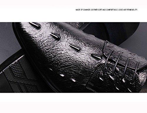 Colore Nero Wear dimensioni Business Uomo in Formal pizzo in Scarpe Red a Scarpe Pelle EU brown singole HWF punta stile in pelle da 41 traspirante uomo Scarpe britannico UK7 1ZSqfWO