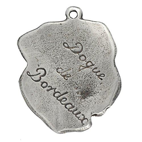 Necklace Silver Plated Dog Pendant on a Snake Chain ArtDog Dogue de Bordeaux