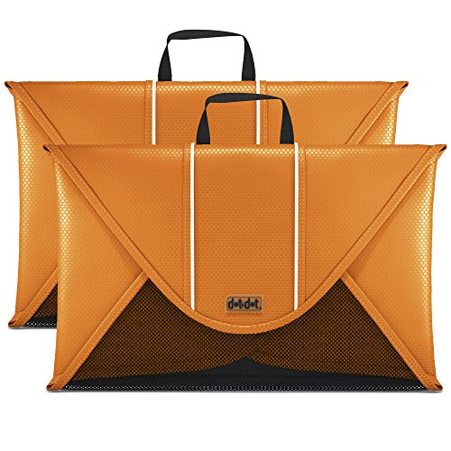 Dot&Dot 18 Inches Packing Folder Backpack Accessory to Avoid Wrinkled Clothing (2-piece set, Orange)