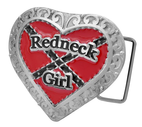 Redneck Girl Belt Buckle - Western Red Neck Country Design
