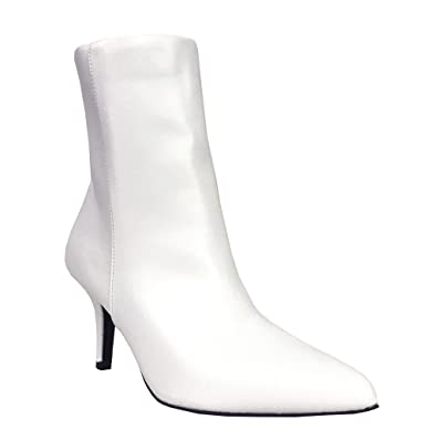bf61101445a Qupid Portia 5 Women's Sexy Pointed Toe Stiletto Mid Heel Ankle Boots