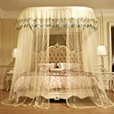 KE & LE U-Shaped Mosquito Net, Mesh Canopy Curtains with Bottom Stainless Steel Bracket Three Open Door Encrypted Mesh Curtain Folding Infant Travel Crib Mosquito Net-a W:200cmxh:210cmxd:200cm
