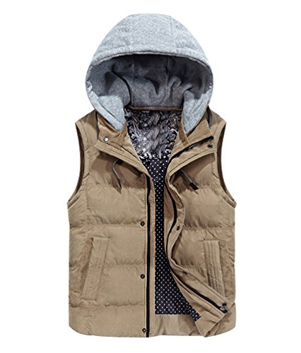 Gilets Bubble Gilet Bodywarmer Jacket Sport Sleeveless With Puffa Thicken Fit Body Warmer Puffer Winter With Vest Quilted Padded Hood Khaki Hooded Pockets Jackets Slim Removable Mens Bodywarmers 7pHnqwExOp