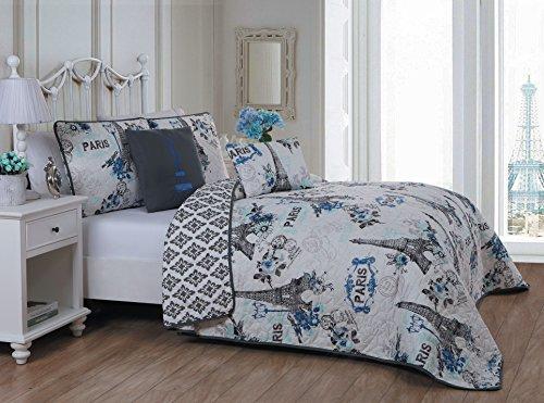 Avondale Manor Cherie 5-piece Quilt Set Queen Blue