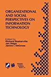 img - for Organizational and Social Perspectives on Information Technology book / textbook / text book