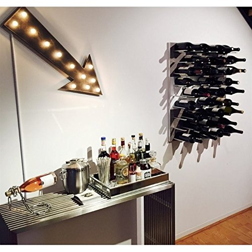 Stact Wall Mounted Wine Rack in Gray Oak