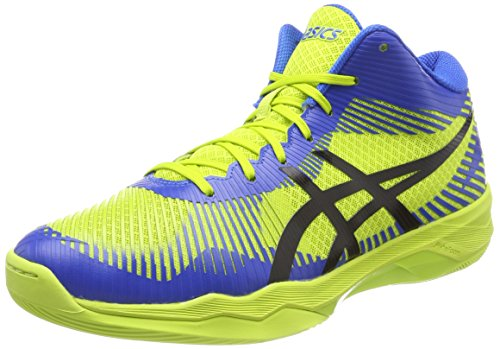 Asics Volley Elite FF MT, Scarpe da Pallavolo Uomo Multicolore (Energy Green/Directoire Blue/Black)