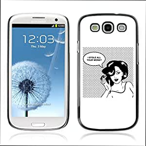 Carcasa Funda Case // V0000643 Retro Woman Comics Style Design // Samsung Galaxy S3 i9300