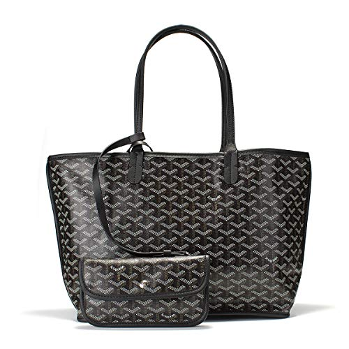 Neverfull Style Designer Woman Organizer Handbag Tote Shoulder Shopping Bag MM Size (Black 2) ()
