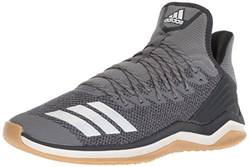 Icon Male - adidas Men's Icon 4 Baseball Shoe, Grey/Cloud White/Carbon, 10.5 M US