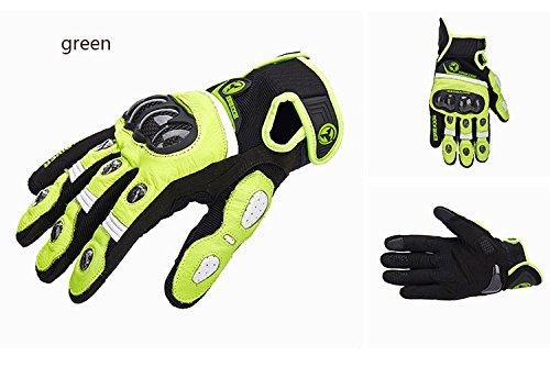 Ocamo Men Carbon Fiber Summer Riding Gloves Anti-slip Cross-country Racing Gloves black and green XL