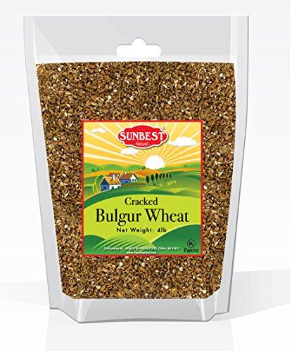 SUNBEST Cracked Bulgur Wheat in Resealable Bag, 4 Lb -
