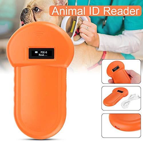 134.2Khz Animal ID Reader LCD Display RFID Portable Microchip Handheld Pet Scanner