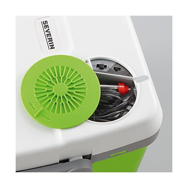 51XFX2CHZLL SEVERIN Elektrische Kühlbox (20 L) mit Kühl- und Warmhaltefunktion, Auto Kühlbox mit 2 Anschlüssen (Netzteil…
