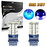 1994 camaro headlights - Partsam Blue 3156 3157 60-SMD LED Bulbs DRL Daytime Running Light Bulb 420LM 52mm size LED Bulbs lights 3757 4114 4157