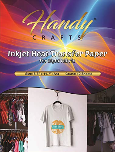 Machine Inkjet Print - Inkjet Heat Transfer Paper for Light Fabric, 8.3